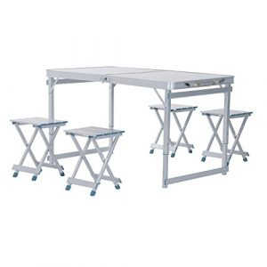 Outsunny Folding Outdoor Camping Table With 4 Seats