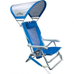 GCI Outdoor Waterside Backpack Beach Chair With Sunshade