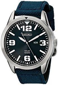 Seiko Men's SNE329 Sport Solar-Powered Stainless Steel Watch