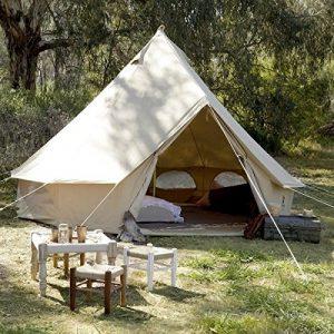 Psyclone Tents 8-10 Person Cotton Canvas Large Tent