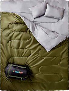 Sleepingo Double Sleeping – Best Sleeping Bag for Large People