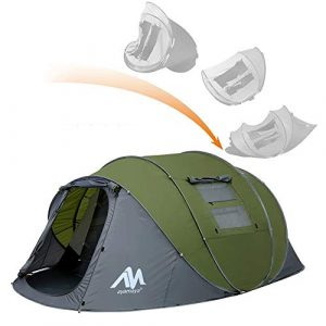 ayamaya Pop-Up Tents with Vestibule for 4-6 Person - Double Layer Waterproof