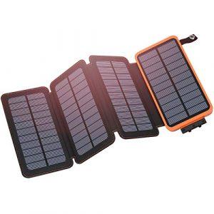 Hiluckey Solar Charger 25000 mAh Portable Power Bank