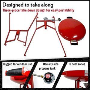 "Original FIREDISC 36"" Tall Outdoor Portable Propane Cooker components"